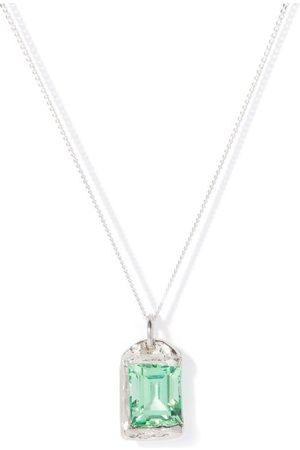 Bleue Burnham The Rose Sapphire & Recycled- Necklace - Mens