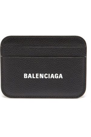 Balenciaga Women Wallets - Cash Logo-print Grained-leather Cardholder - Womens