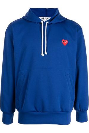 Comme des Garçons Logo-patch drawstring hoodie
