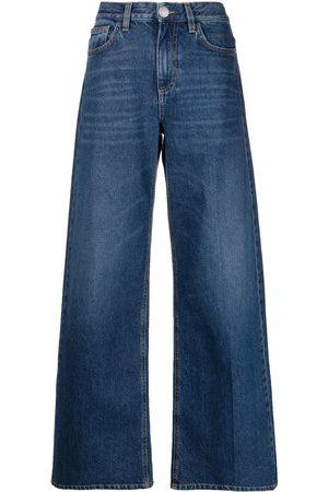 Pinko Women Bootcut & Flares - High-rise wide-leg jeans