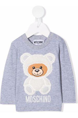 Moschino Kids Short Sleeve - Teddy bear patch T-shirt