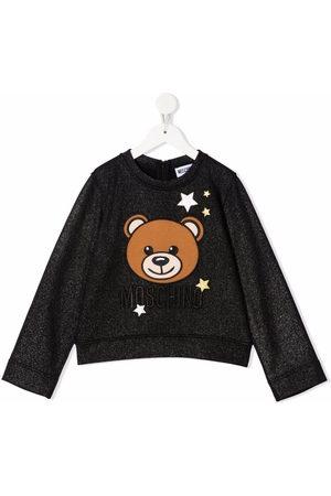 Moschino Teddy bear-motif glittered sweatshirt