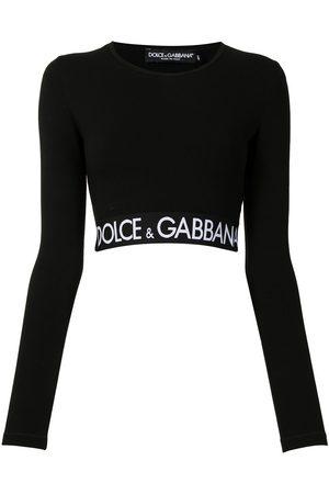 Dolce & Gabbana Logo-hem cropped top