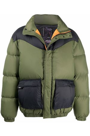 MSGM Two-tone puffer jacket