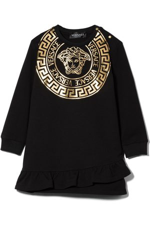 VERSACE Medusa graphic print sweatshirt dress