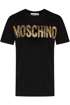 Moschino MOSCH LRG GLD CHST LG SS TEE BLK