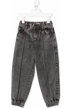 Brunello Cucinelli Kids Girls Straight - Acid-wash straight jeans