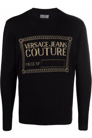 VERSACE Men Sweatshirts - Logo knit sweatshirt