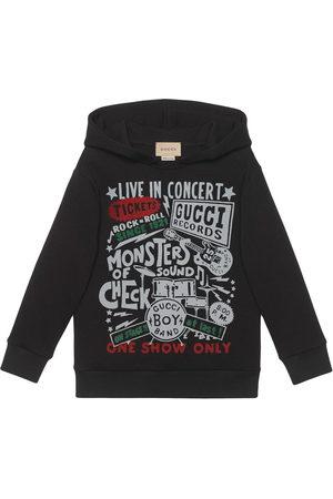 Gucci Boys Hoodies - Gucci Concert-print cotton hoodie