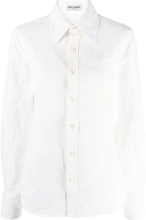 Saint Laurent Cotton-linen blend shirt