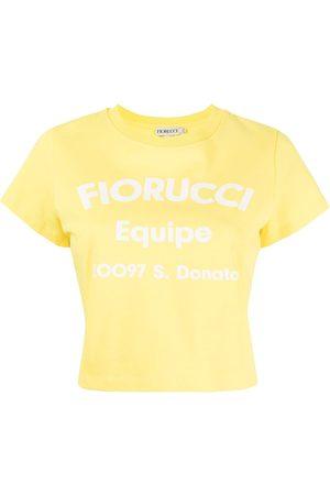 Fiorucci Equipe logo-print cropped T-shirt
