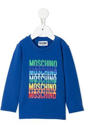 Moschino Long Sleeve - Logo-print longsleeved T-shirt