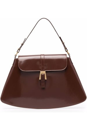 By Far Portia patent leather tote bag