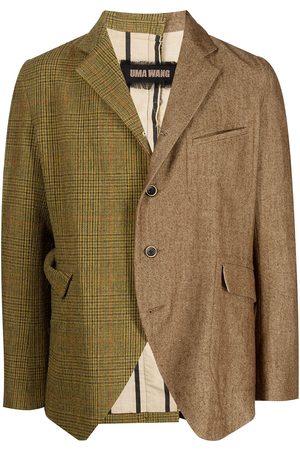 UMA WANG Contrasting-panel wool blazer