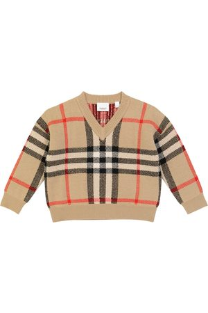 Burberry Denny checked wool-blend sweater
