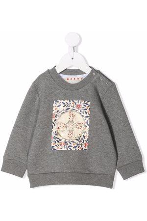 Marni Cat-print cotton sweatshirt