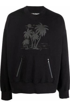 Palm Angels Men Sweatshirts - X TEAM WANG logo-print sweatshirt