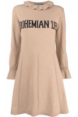 Alberta Ferretti Bohemian Life intarsia-knit dress