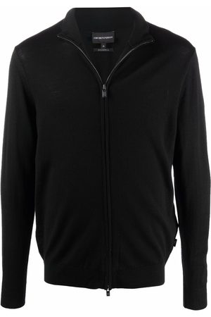 Emporio Armani Zipped-front virgin wool pullover