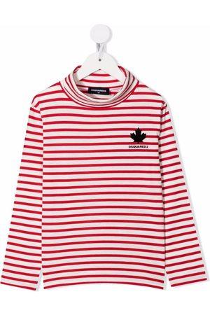 Dsquared2 Girls Turtlenecks - Stripe-print roll-neck top