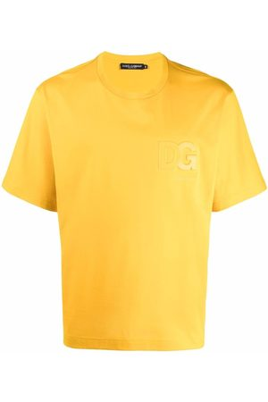 Dolce & Gabbana Men Short Sleeve - Logo-embossed cotton T-shirt