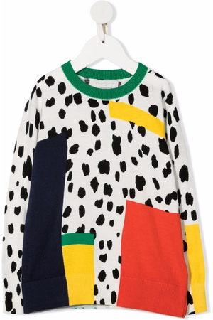 Stella McCartney Girls Sweatshirts - Dalmatian Spots-print organic cotton-blend sweatshirt