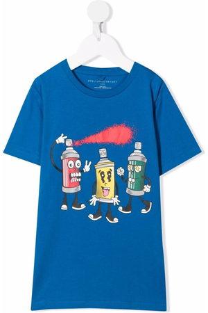 Stella McCartney Graphic-print sustainable cotton T-shirt