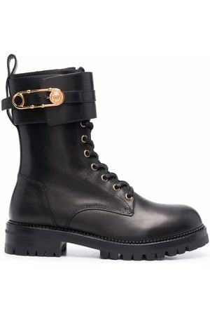 VERSACE Medusa Pin lace-up boots