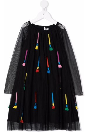 Stella McCartney Embroidered paintbrush dress