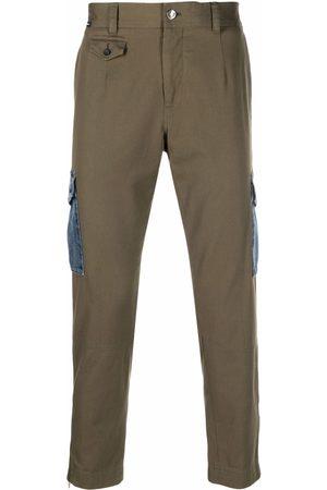Dolce & Gabbana Men Straight - Denim-pocket straight trousers
