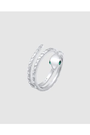 Elli Jewelry Ring Snake with Crystals in 925 Sterling Silver - Jewellery Ring Snake with Crystals in 925 Sterling Silver