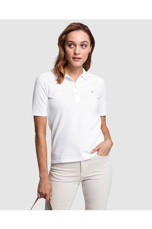 GANT Women Polo Shirts - Original Long Short Sleeve Piqué Polo Shirt - Shirts & Polos Original Long-Short Sleeve Piqué Polo Shirt