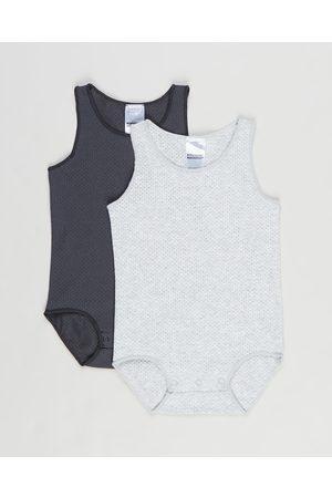 Bonds Baby Wondercool Eyelet Singletsuit 2 Pack Babies - Bodysuits (New Marle & Solar System) Wondercool Eyelet Singletsuit 2-Pack - Babies