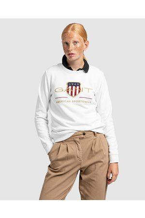 Gant Women Sweatshirts - Archive Shield Crewneck - Crew Necks (EGGSHELL) Archive Shield Crewneck