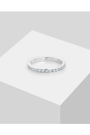 Elli Jewelry Women Rings - Ring 925 Sterling Silver Band Crystals - Jewellery Ring 925 Sterling Silver Band Crystals