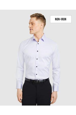 Tarocash Men Business - Linton Stretch Non Iron Shirt - Shirts & Polos (LILAC) Linton Stretch Non Iron Shirt