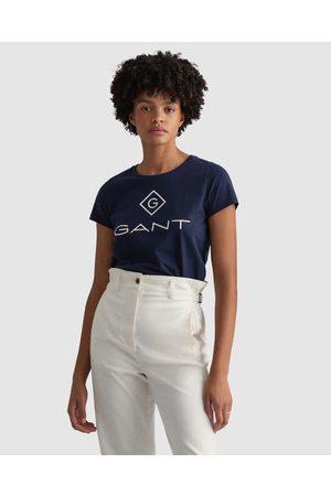GANT Women Short Sleeve - Lock Up T Shirt - Short Sleeve T-Shirts (EVENING ) Lock Up T-Shirt