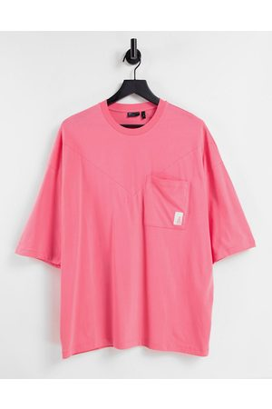 ASOS Oversized t-shirt with seam and pocket detail in