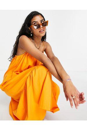ASOS Strappy midi sundress with pep hem in