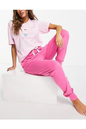 Heartbreak Women Pyjamas - Cupcake dreaming long pyjama set in