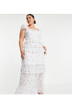 Missguided Frill detail maxi dress in