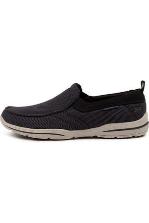Skechers 65382 Harper Dark Navy Sneakers Mens Shoes Casual Casual Sneakers