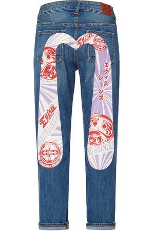 Evisu Women Boyfriend - Daruma and Kamon Daicock Boyfriend Jeans