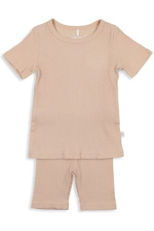 Pouf Baby's & Little Girl's 2-Piece Ribbed Shorts Set
