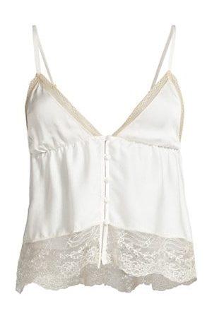 Kiki de Montparnasse Women Slips - Tiered Lace-Trim Silk Camisole