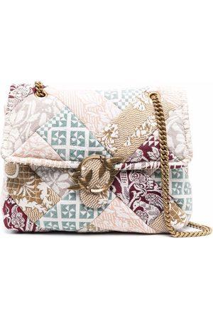 Pinko Patchwork-print shoulder bag
