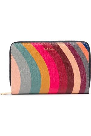 Paul Smith Wave-striped zipped purse