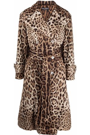 Dolce & Gabbana Leopard-print belted trench coat