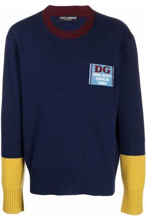 Dolce & Gabbana Men Sweaters - Chest-logo knit jumper