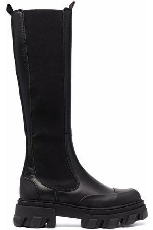 Ganni Women Knee High Boots - Knee-high Chelsea boots